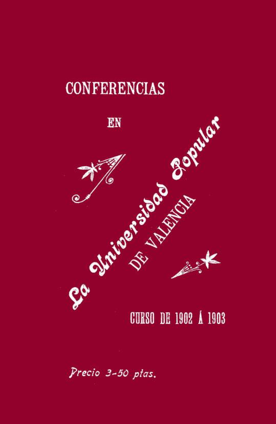 Facsímil Confèrencies 1903-1904